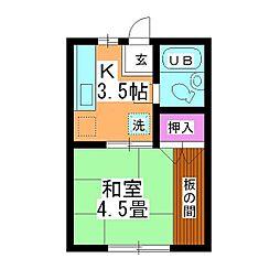 第2坂上荘[2-B号室]の間取り