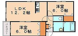 プレステージ穂波東[3階]の間取り