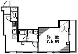 メルベーユ十条[3階]の間取り