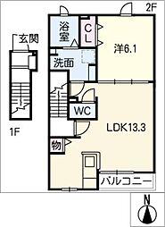 LUMIUS[2階]の間取り