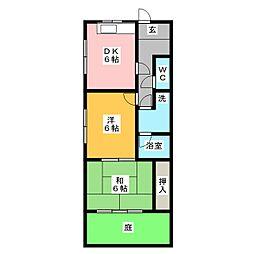 グリーンビラ22[1階]の間取り