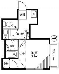 第2名雲コーポ[2階]の間取り