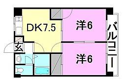 マリンパレット3[406 号室号室]の間取り