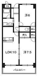 カーサM1[305号室]の間取り