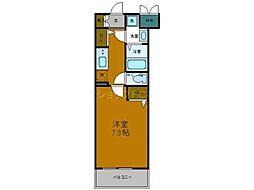 Osaka Metro中央線 弁天町駅 徒歩9分の賃貸マンション 4階1Kの間取り