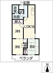 第2富士マンション[1階]の間取り