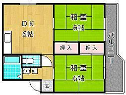 高塚コーポラス[2階]の間取り