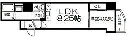 セレニテ梅田EST[15階]の間取り