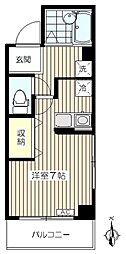 ウィンコーポ世田谷[207号室]の間取り