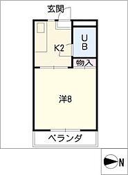ハイツローヤル[2階]の間取り