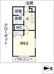 アンプルール リーブルSante1[2階]の間取り
