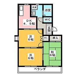 三重県伊賀市緑ケ丘東町の賃貸マンションの間取り