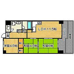 リバーサイドヴィラ姫島[1階]の間取り