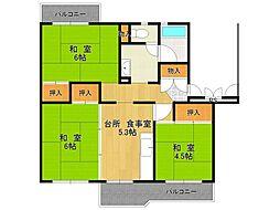 UR中山五月台住宅[9-103号室]の間取り
