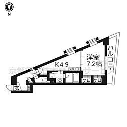 ベラジオ京都清水[4階]の間取り