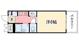 アンボワ−ズ武庫川レディース[501号室]の間取り