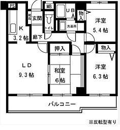ベルソシア[3階]の間取り
