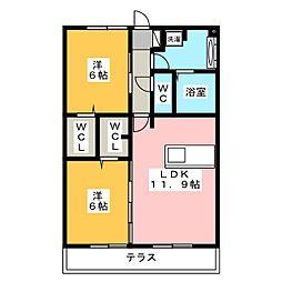 Resente和田 A[1階]の間取り