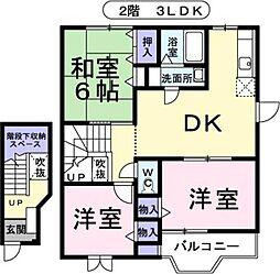 プリマベ−ラ21 A棟[2階]の間取り