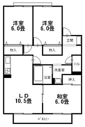 広島県呉市広大新開3丁目の賃貸アパートの間取り