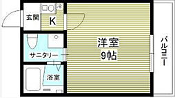 神奈川県相模原市中央区相模原6丁目の賃貸アパートの間取り