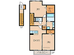 D-room延時A棟[2階]の間取り