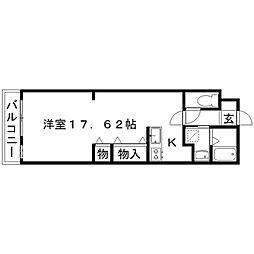 内藤ハイツ[203号室]の間取り