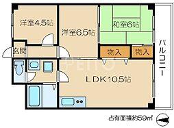 交徳マンション[1階]の間取り