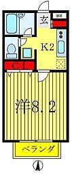 A−レガート松戸八ヶ崎[2階]の間取り
