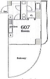 RAYHAUS駒込(レイハウス駒込)旧ヴェルドミール駒込[607号室]の間取り