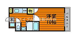 JR山陽本線 新倉敷駅 徒歩6分の賃貸マンション 8階1Kの間取り