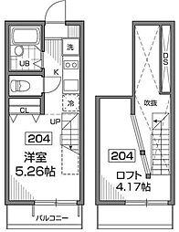 バウムハウス新高円寺[2階]の間取り