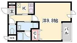 兵庫県神戸市長田区御蔵通6丁目の賃貸マンションの間取り