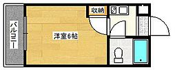 大阪府大阪市西成区玉出西1丁目の賃貸マンションの間取り