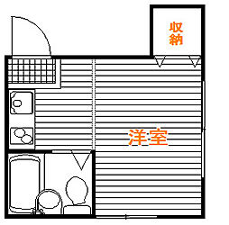 東京都豊島区上池袋3丁目の賃貸アパートの間取り