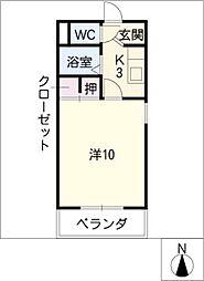 第6ハイツ・タマキ[4階]の間取り