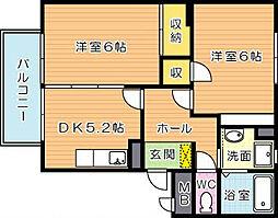 リバーサイドホーム[2階]の間取り