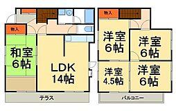 [一戸建] 千葉県柏市東中新宿3丁目 の賃貸【/】の間取り