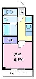 近鉄南大阪線 河内天美駅 徒歩5分の賃貸アパート 1階1Kの間取り