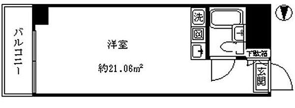 新宿グリーンプラザ[602号(家具家電付)号室]の間取り