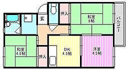 K・OJフラッツ[2階]の間取り