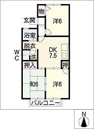 シャンボール・モリ[2階]の間取り