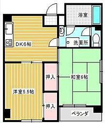 富士レジデンス[4階]の間取り