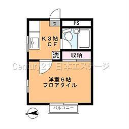 東京都品川区西中延3丁目の賃貸アパートの間取り
