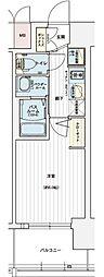 エステムコート名古屋黒川シャルマン 4階1Kの間取り