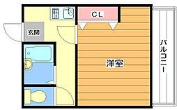 ハイムノーベル[3階]の間取り
