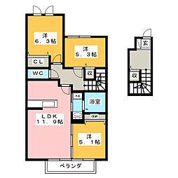フェリチータ[2階]の間取り