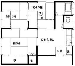 山栄荘[201号室]の間取り