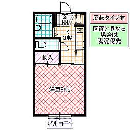 ライトハウス I[202号室号室]の間取り