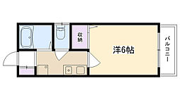 ジュネス夙川[302号室]の間取り